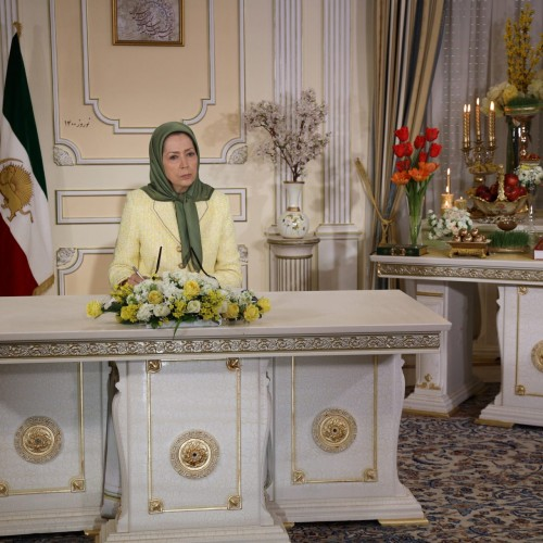 مریم رجوی در گردهمایی بهمناسبت سال نو ایرانی۱۴۰۰ -۳۰ اسفند ۱۳۹۹