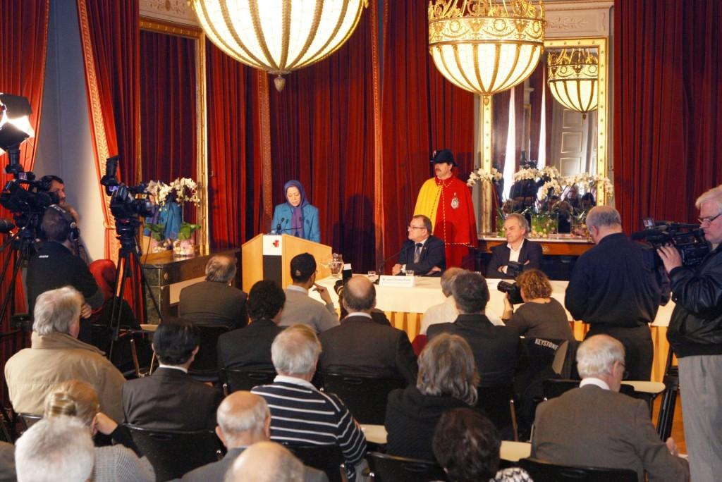 سخنرانی مریم رجوی در کنفرانس شهرداری ژنو