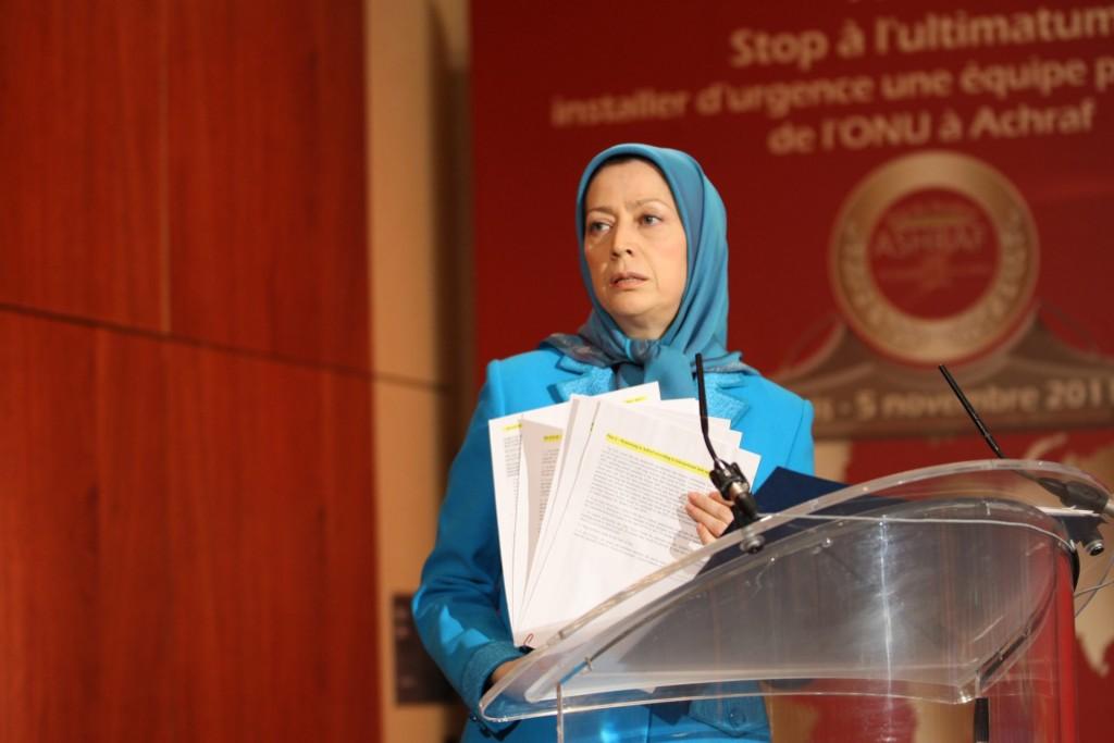 کنفرانس بینالمللی پاریس با حضور مریم رجوی