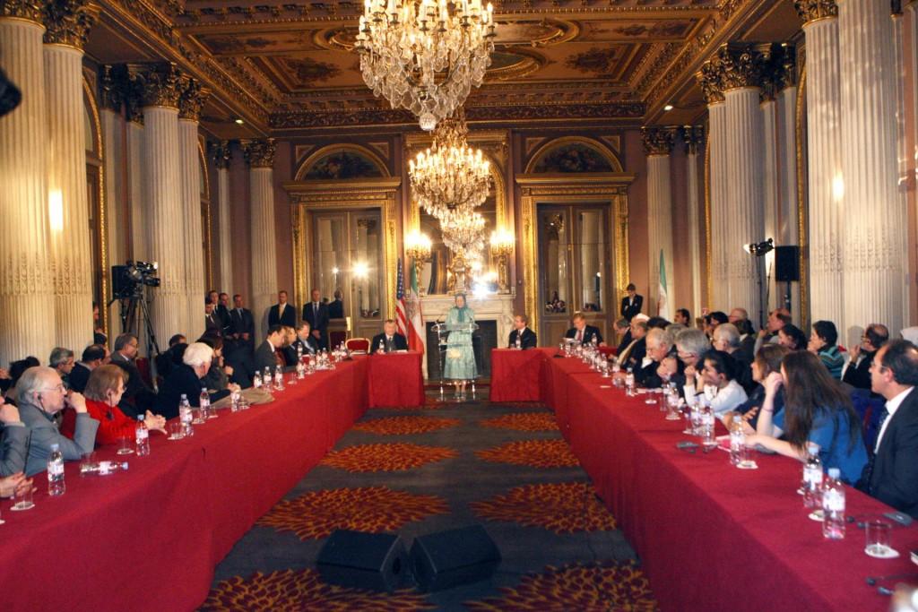 سخنرانی مریم رجوی در دیدار با هیأت کنگره آمریکا