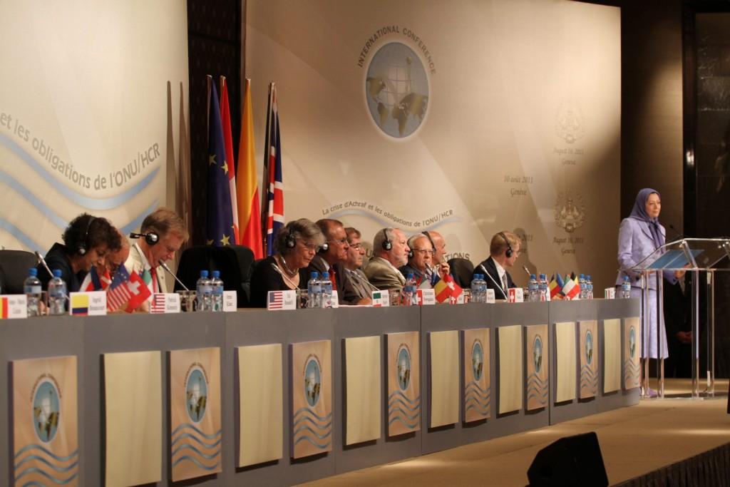 سخنرانی در کنفرانس بینالمللی بروکسل