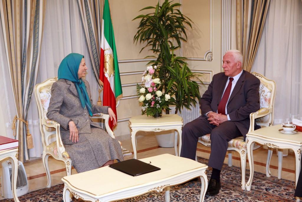 دیدار با رئیس فراکسیون فتح در پارلمان فلسطین