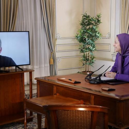 دیدار با ژان پیر مولر، از روسای مشترک کمیته منتخبین برای ایران دمکراتیک