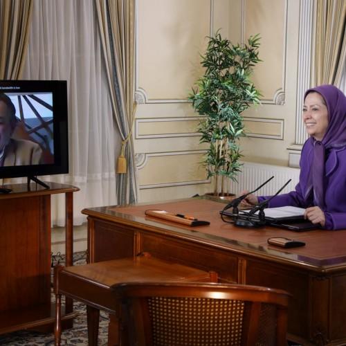 دیدار با ژان فرانسوا لوگاره، از روسای مشترک کمیته منتخبین برای ایران دمکراتیک