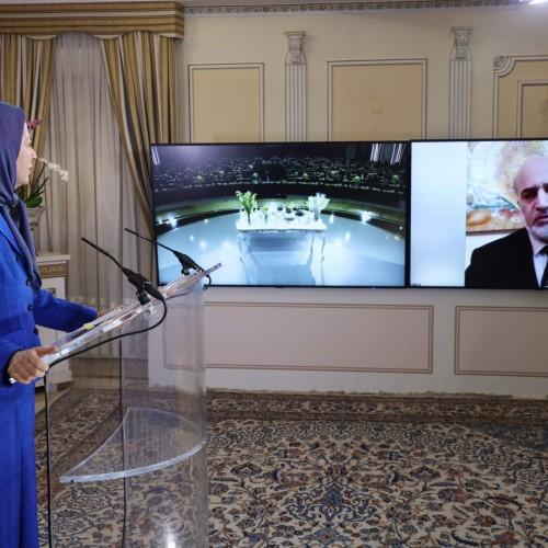 سخنرانی دکتر بسام عموش، وزیر دولت و سفیر پیشین اردن در تهران، در کنفرانس همبستگی عربی- اسلامی با مردم و مقاومت ایران