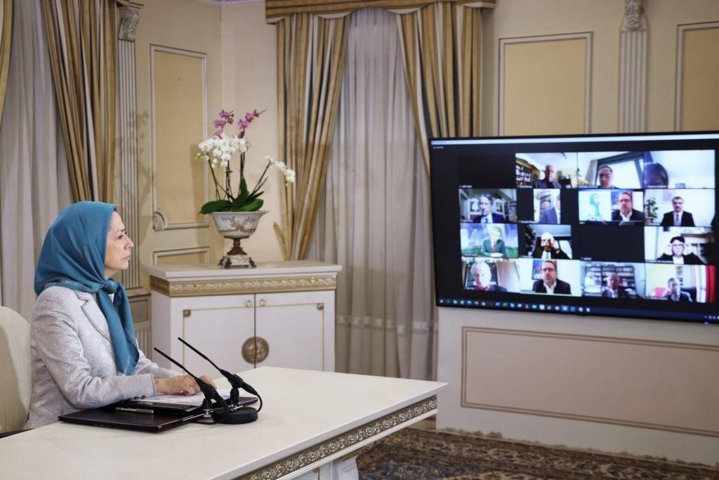 کنفرانس آنلاین، با شماری از نمایندگان مجلس ملی فرانسه به دعوت کمیته پارلمانی برای ایران دمکراتیک