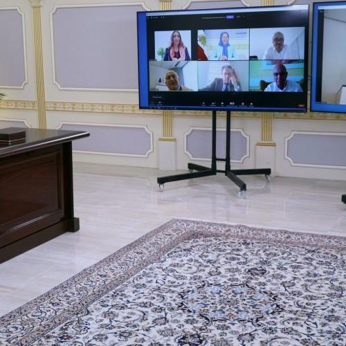 كنفرانس آنلاين با حضور مریم رجوی و شماری از نمايندگان پارلمان اروپا – اردیبهشت ۱۴۰۰