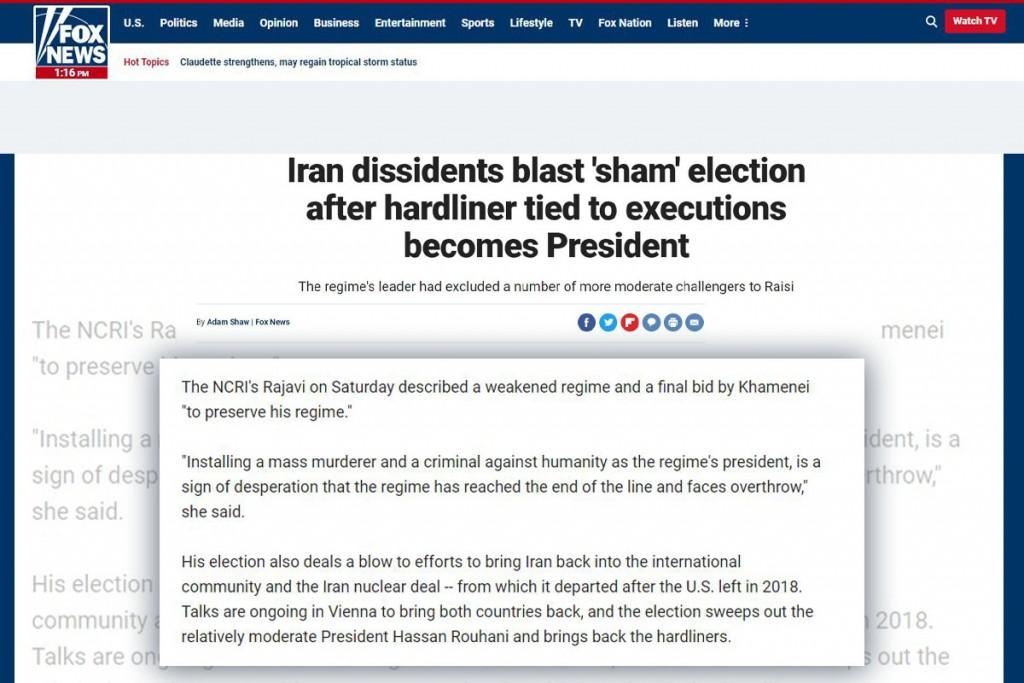 مریم رجوی: آوردن رئیسی نشانه ضعف رژیم و آخرین برگ خامنه ای برای بقا