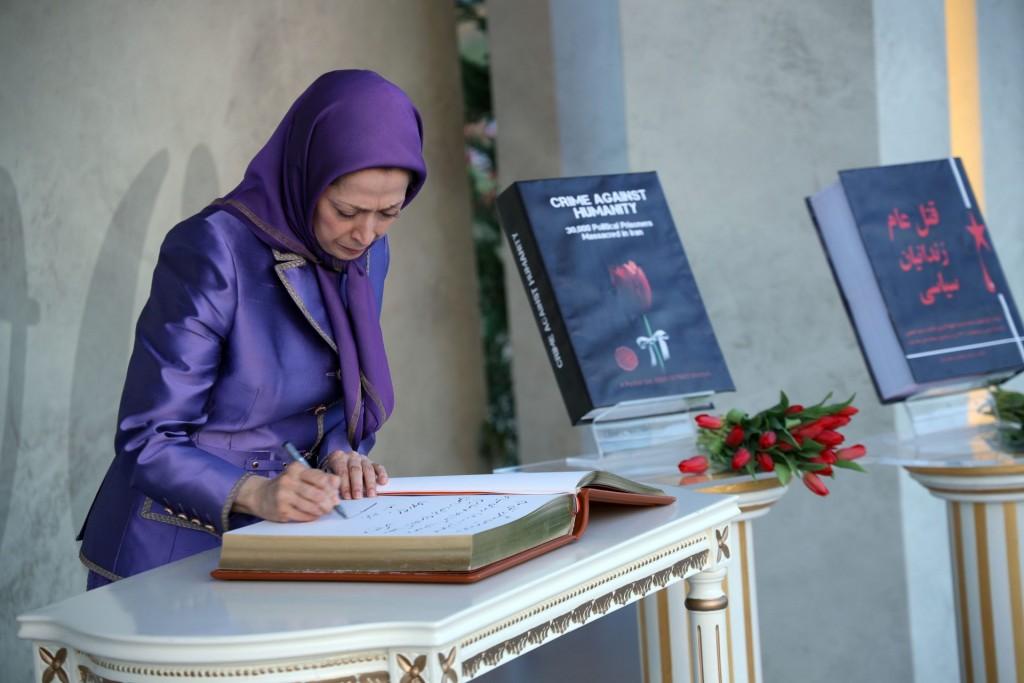 سخنرانی مریم رجوی در اجلاس جهانی ایران آزاد