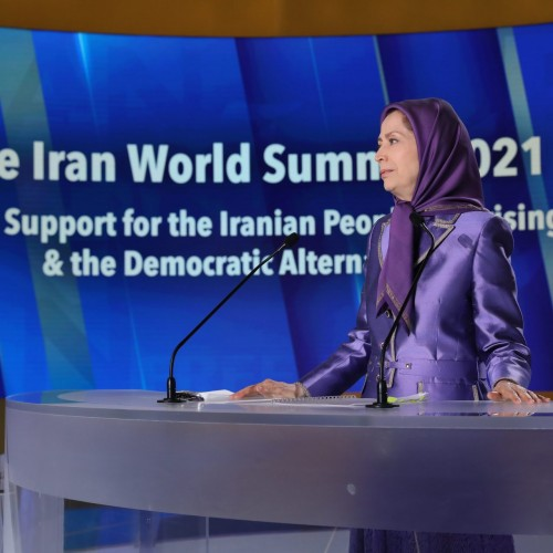 مریم رجوی در سومین روز اجلاس جهانی ایران آزاد- حمایت از قيام مردم ايران و آلترناتیو دمکراتیک- ۲۱تیر۱۴۰۰